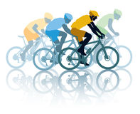 Bike race. Group of cyclist in the bicycle race. Sport illustration Stock Photos