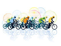 Bike race. Group of cyclist in the bicycle race. Sport illustration Stock Images