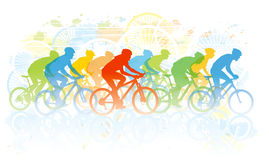 Bike race. Group of cyclist in the bicycle race. Sport illustration Royalty Free Stock Images