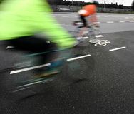 Bike race stock image