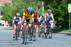 Bike race in city street Royalty Free Stock Image