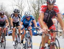 Bike Race/ KOM stage. Riders coming up to the top of the mountain in the Tour de Georgia bicycle race Royalty Free Stock Image