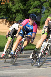 Bike race. Leominster MA : Cyclists compete in the Longsjo Classic Criterium, a circuit race on closed course on June 26 2015 in Leominster MA Stock Photography