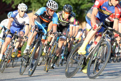 Bike race. Leominster MA : Cyclists compete in the Longsjo Classic Criterium, a circuit race on closed course on June 26 2015 in Leominster MA Royalty Free Stock Photography
