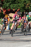 Bike race. Leominster MA : Cyclists compete in the Longsjo Classic Criterium, a circuit race on closed course on June 26 2015 in Leominster MA Stock Images