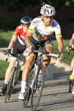 Bike race. Leominster MA : Cyclists compete in the Longsjo Classic Criterium, a circuit race on closed course on June 26 2015 in Leominster MA Stock Photo