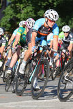 Bike race. Leominster MA : Cyclists compete in the Longsjo Classic Criterium, a circuit race on closed course on June 26 2015 in Leominster MA Royalty Free Stock Image