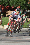 Bike race. Leominster MA : Cyclists compete in the Longsjo Classic Criterium, a circuit race on closed course on June 26 2015 in Leominster MA Stock Photos