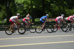 Bike Race. Philadelphia's Annual Cycling Championship, the longest bike race in the country.  Here the cyclists are on The Benjamin Franklin Parkway, the last Stock Image