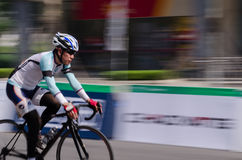 Bike race in a road in China Stock Image