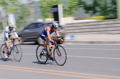 Bike race in a road in China Royalty Free Stock Photography