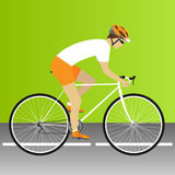 Bike race. Bike, road. Bike race cycling, bicycle, road bike race. Vector illustration Royalty Free Stock Photos