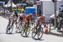 Bike race in Sao Paulo - Brazil Royalty Free Stock Images