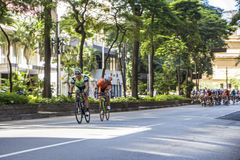 Bike race in Sao Paulo - Brazil Stock Images