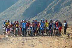 Bike race start Royalty Free Stock Photos