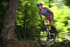 Bike racer. Photo of a mtb racer Royalty Free Stock Photos
