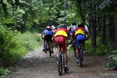 Bike racers stock photography
