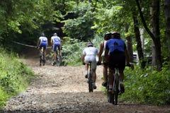 Bike racers stock photos