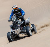Bike racing at Dakar 2013 Stock Images