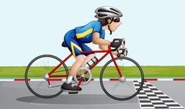 A bike racing. Illustration of a bike racing Royalty Free Stock Images