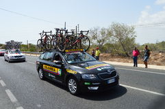 Bike Racing Team Colombia Car Royalty Free Stock Photos