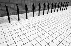 Bike rack in black and white. Stock Images
