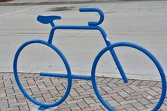 Bike Rack Sculpture Stock Image
