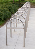 Bike Rack, silver metal Stock Images