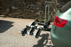 Bike racks for cars Stock Photos