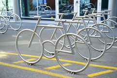 Bike Racks Royalty Free Stock Photography