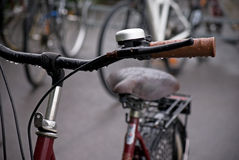 Bike in rain Royalty Free Stock Photography