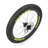Bike rear wheel against white. 3D illustration. Bike rear wheel against white background. 3D illustration Stock Images