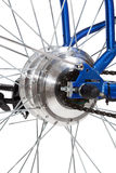 Bike rear wheel detail Royalty Free Stock Image