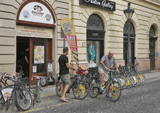 Bike rent in Budapest Stock Image