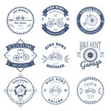 Bike Rent Label and Badges Design. Vector Royalty Free Stock Photo