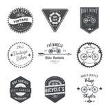 Bike Rent Label and Badges Design. Vector Stock Photo