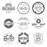 Bike rent. Set of vintage, modern and retro logo, badges and labels. Vector Royalty Free Stock Photos