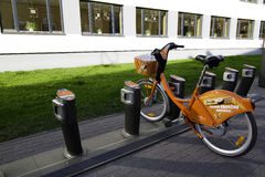 Bike. For rent in Vilnius Royalty Free Stock Photography