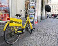 Bike Rental. A bike for rent in Amsterdam Royalty Free Stock Photography