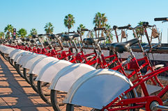 Bike rental in Barcelona Royalty Free Stock Image