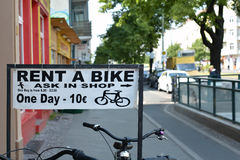 Bike rental in Berlin. Bike rental in the center of Berlin Stock Photo