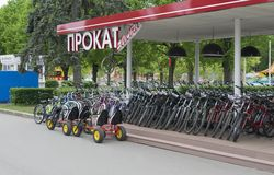 Bike rental Stock Photography