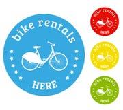 Bike rental icon Royalty Free Stock Photos