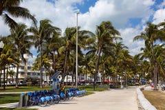 Bike Rental Kiosk Miami Beach Stock Image