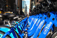 Bike rental in New York City Stock Photos