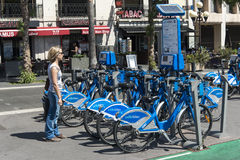 Bike rental Promenade du Paillon Nice Royalty Free Stock Images