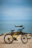 Bike Rental. Renting a bicycle is an option for getting around the island of Nusa Lembongan, Bali, Indonesia. However, because few tourists choose it, there aren Royalty Free Stock Image