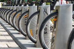 Bike rental service Royalty Free Stock Image