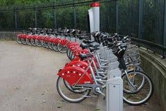 Bike Rental Service Station Stock Photos
