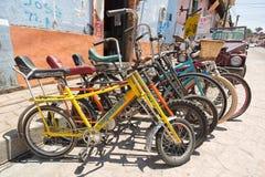 Bike rental shop n Mexico Stock Images